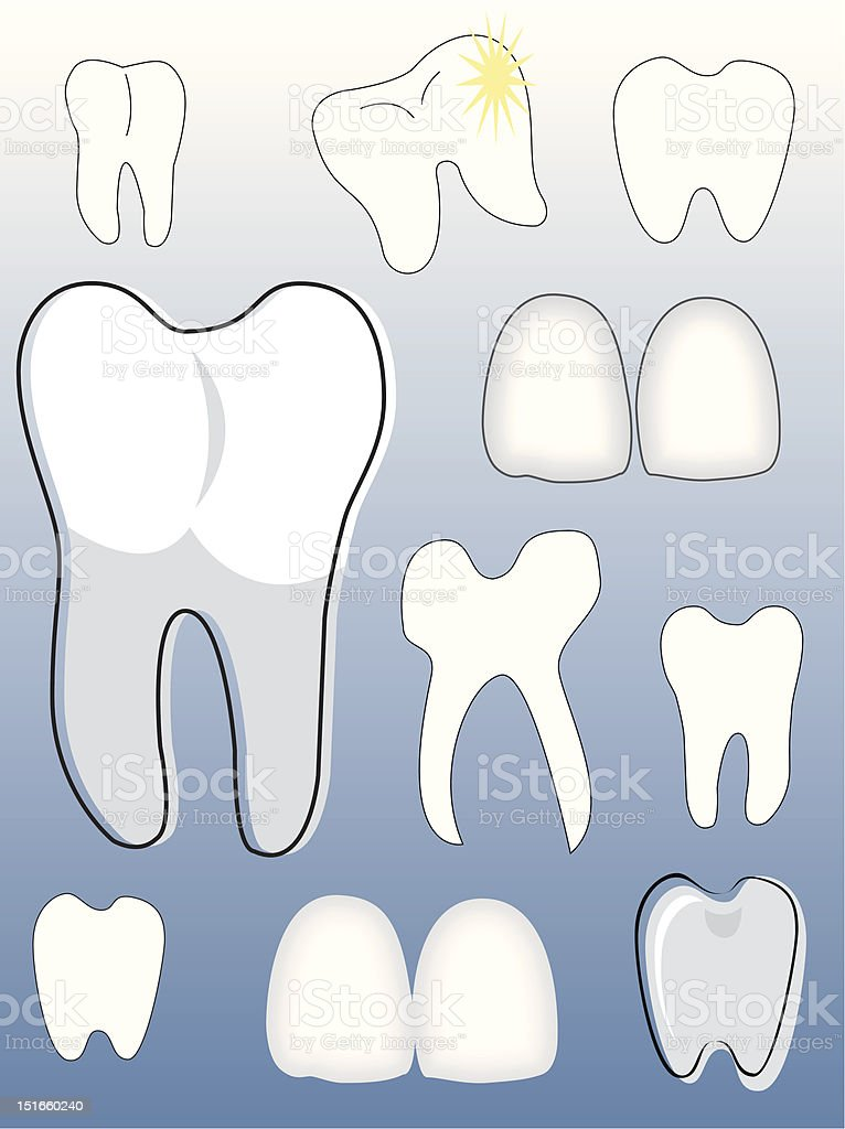 tooth collection royalty-free stock vector art