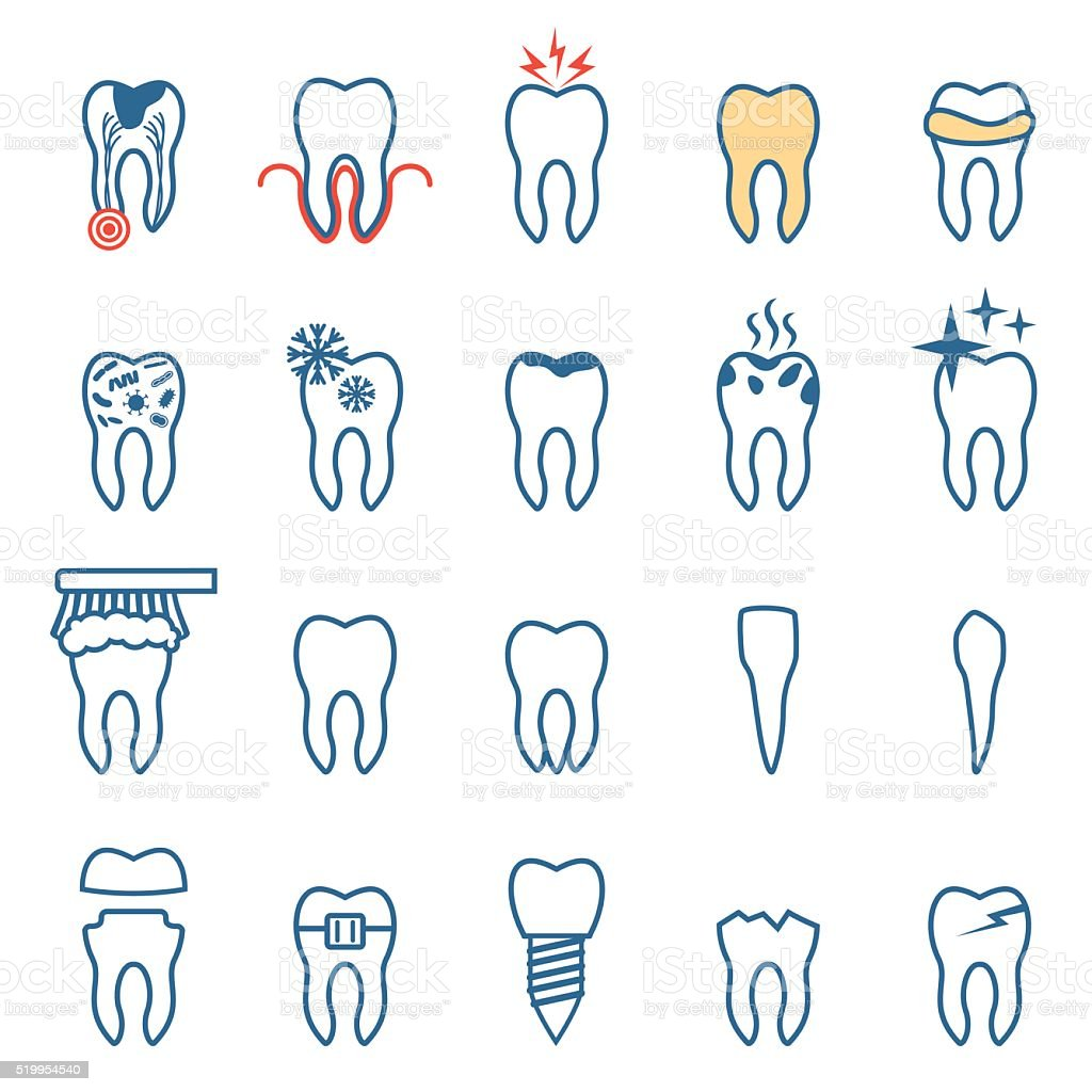 tooth disease vector art illustration