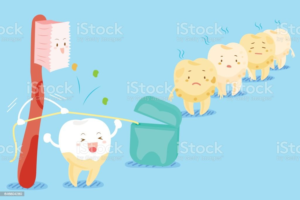 tooth health concept vector art illustration