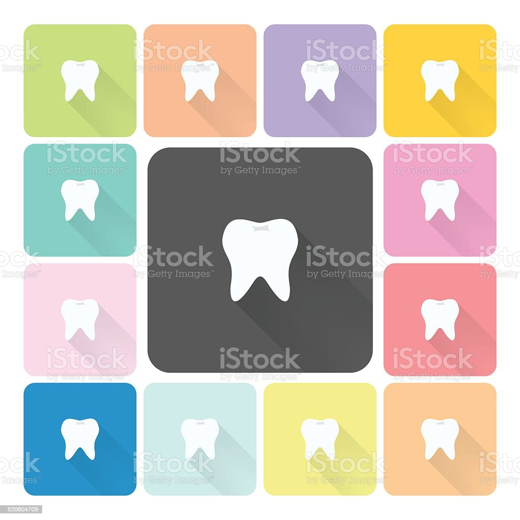 Tooth Icon color set vector illustration vector art illustration