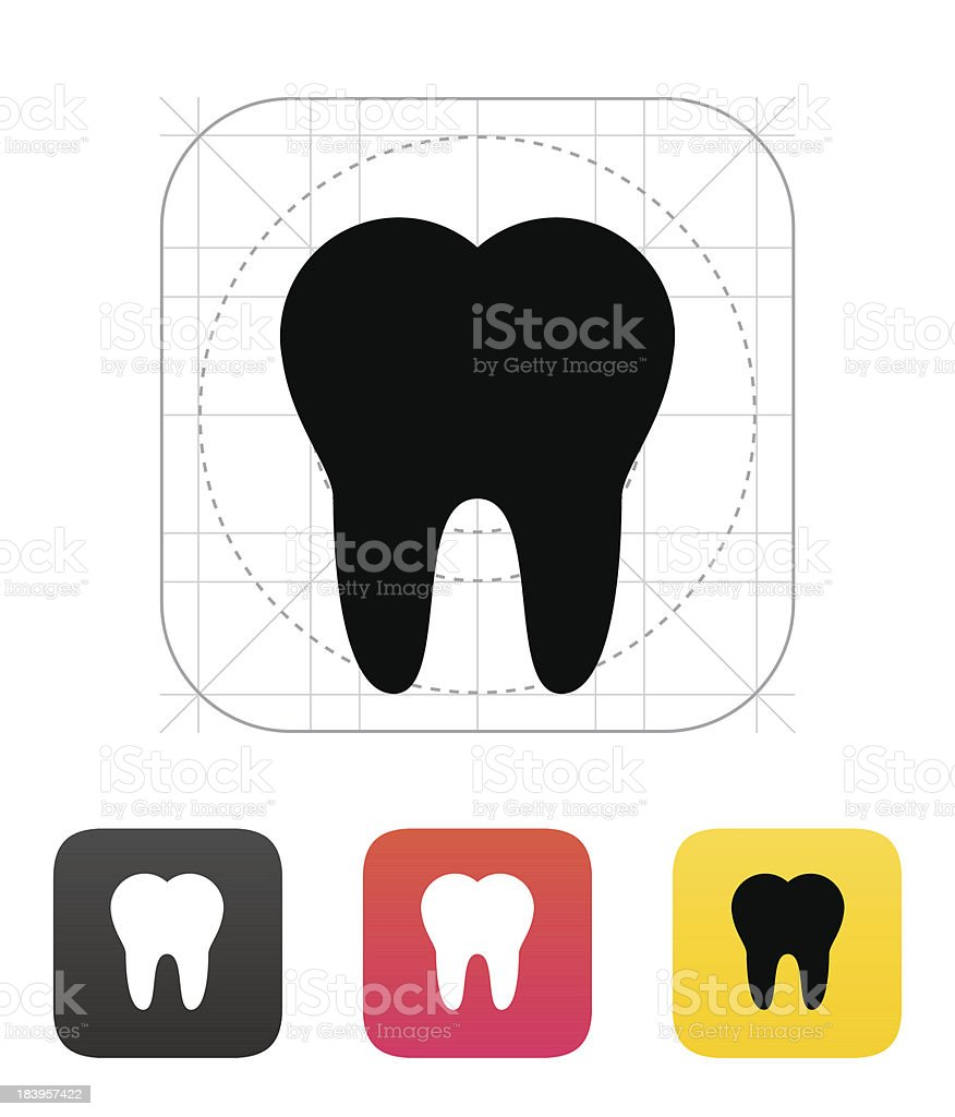 Tooth icon. royalty-free stock vector art