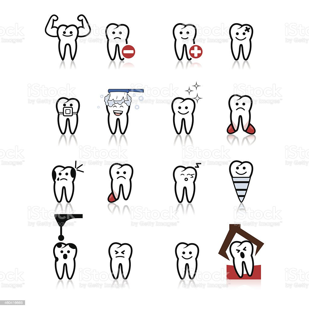 tooth icon vector art illustration