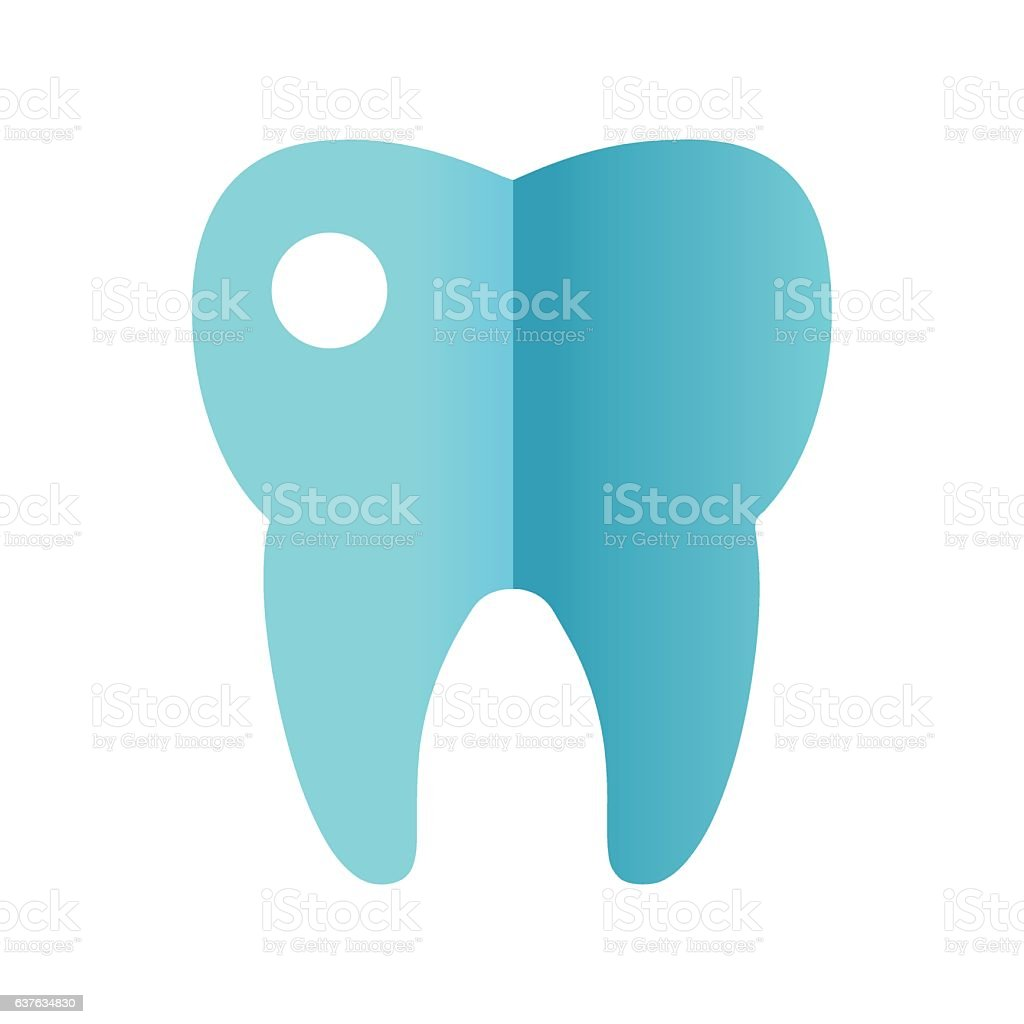 Tooth icon vector. vector art illustration