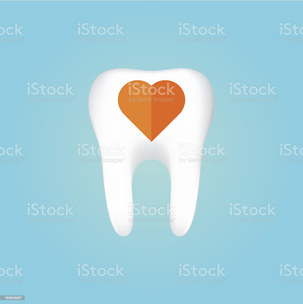 Tooth On White Background. Vector Illustration royalty-free stock vector art
