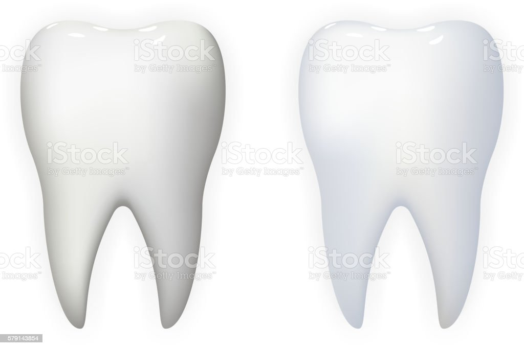 Tooth Poster Stomatology Realistic 3d Isolated Icon Template Background Mock vector art illustration