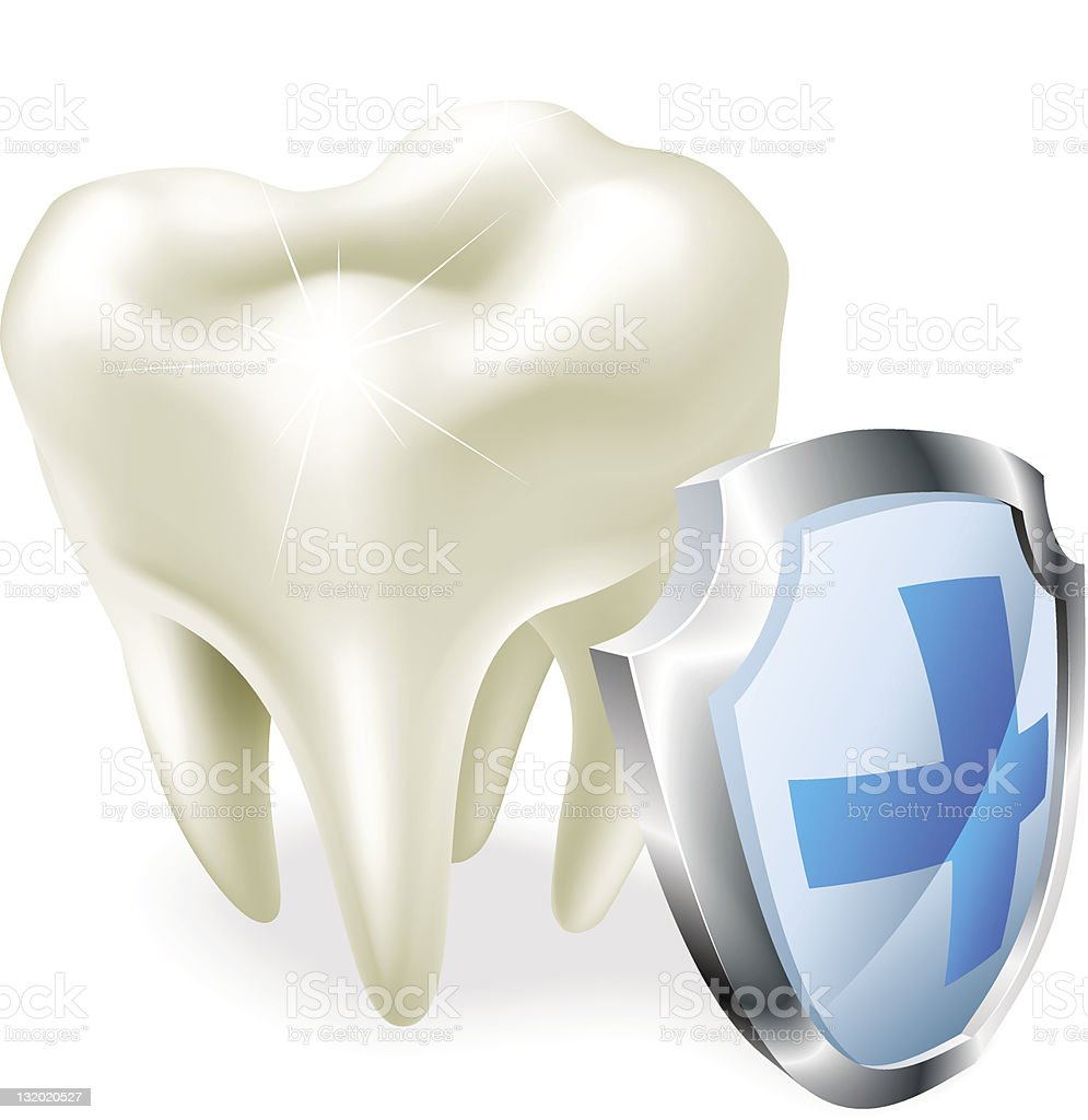 Tooth protection concept vector art illustration