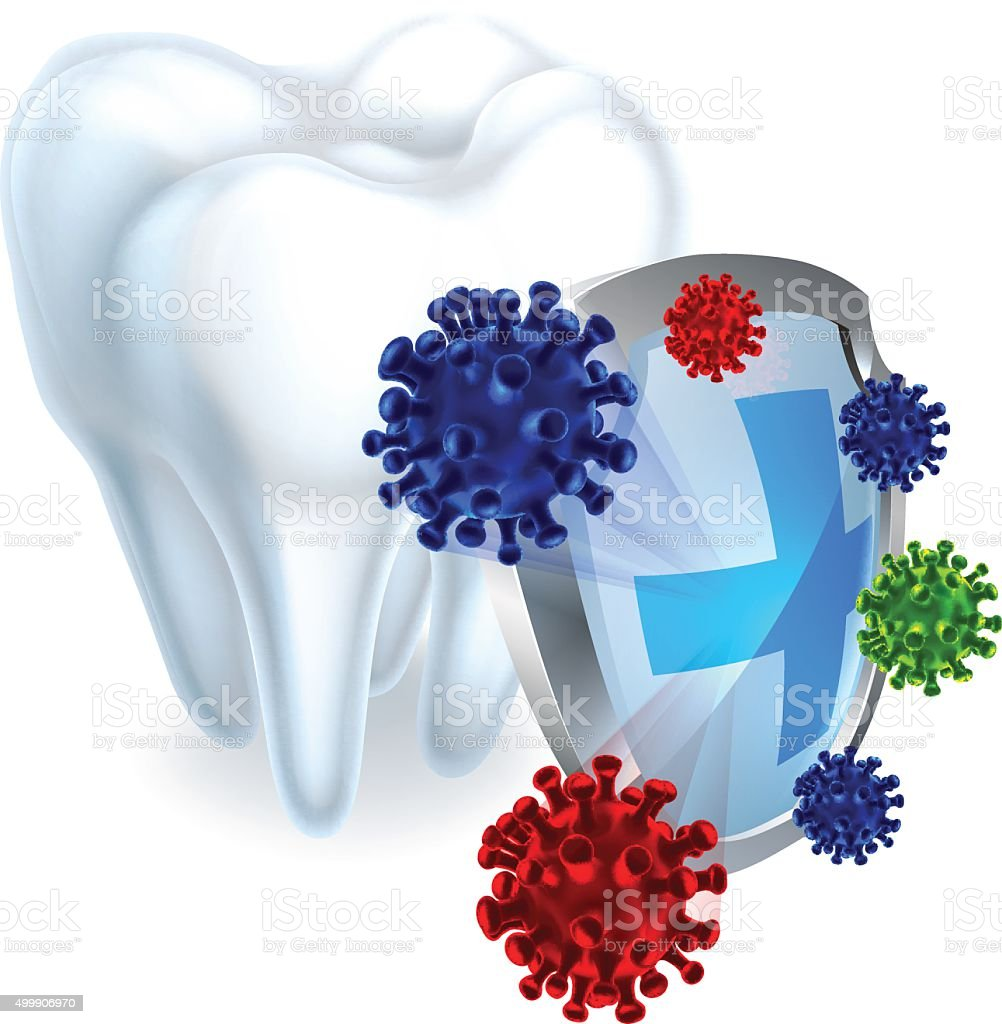 Tooth Shield Concept vector art illustration