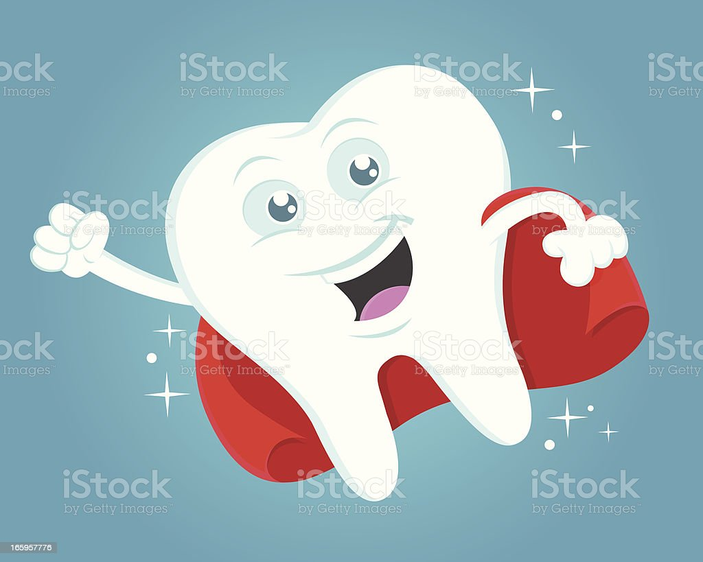 Tooth superhero royalty-free stock vector art