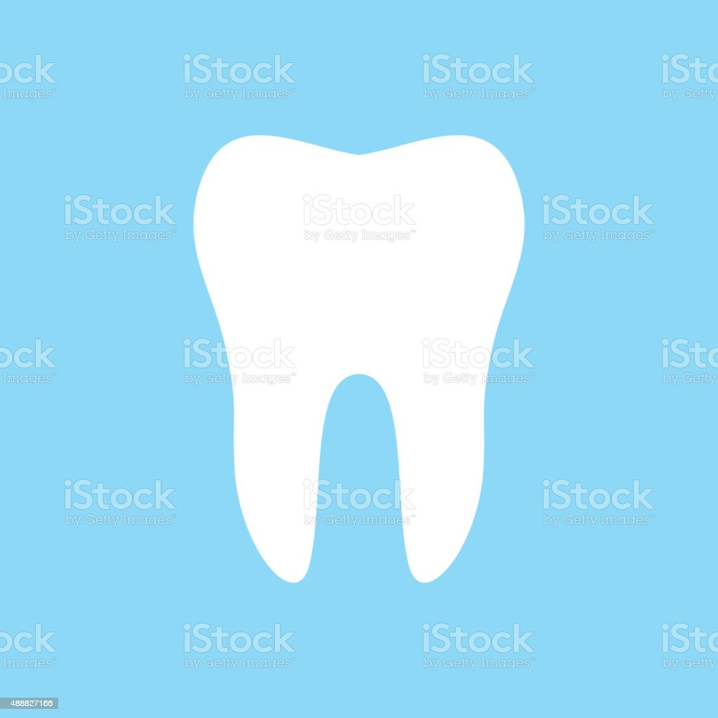 Tooth vector icon vector art illustration