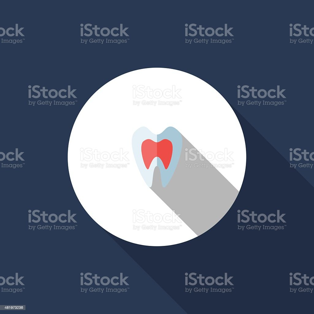 Tooth vector art illustration