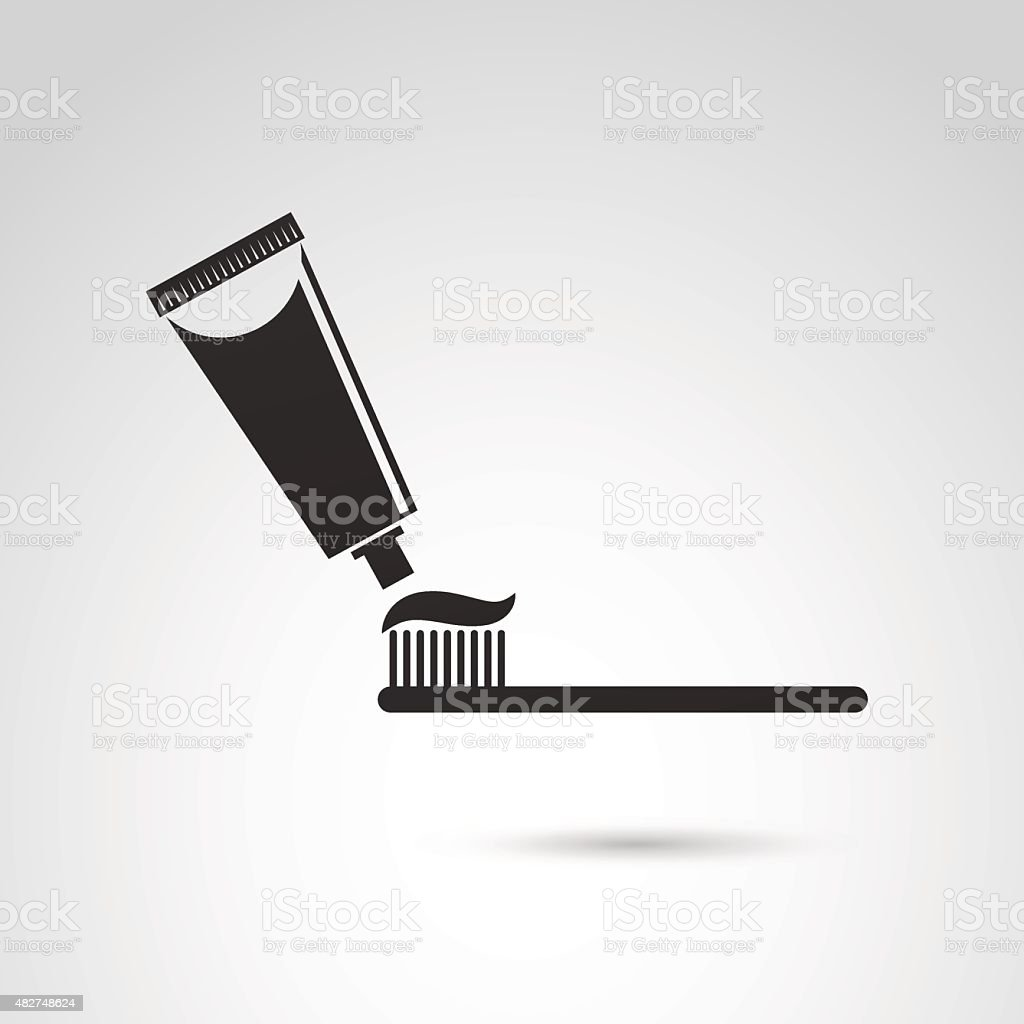 Toothbrush icon. vector art illustration