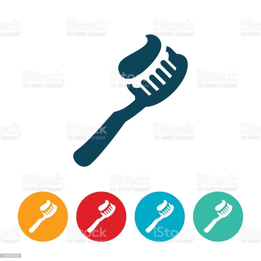 Toothbrush Icon vector art illustration