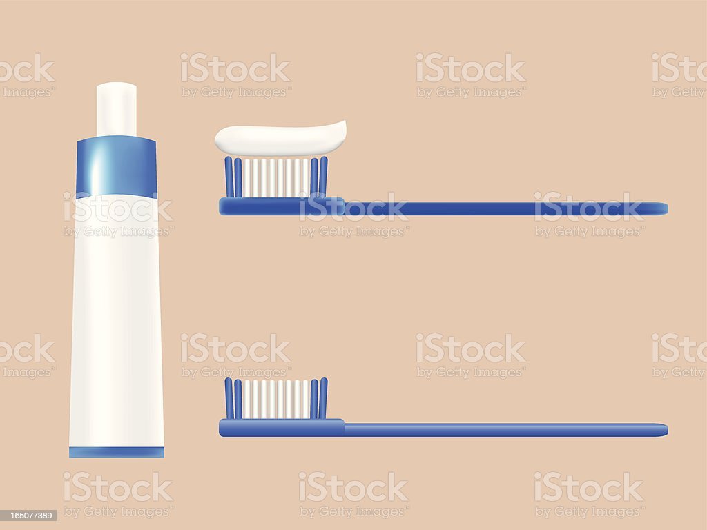 toothbrush set royalty-free stock vector art