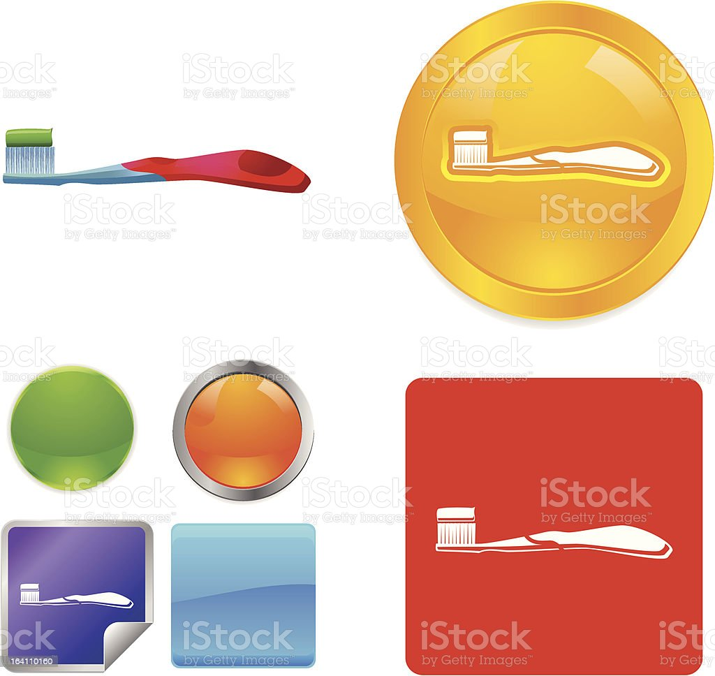 Toothbrush vector icon royalty-free stock vector art