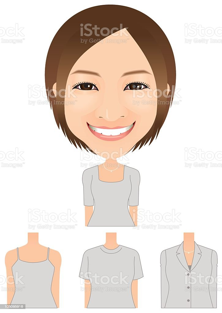 toothy smile royalty-free stock vector art
