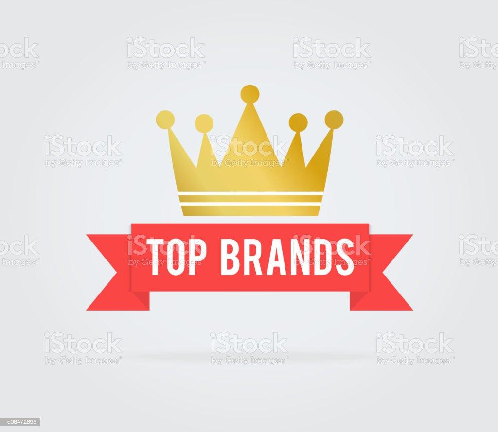 Top brand card tag vector art illustration