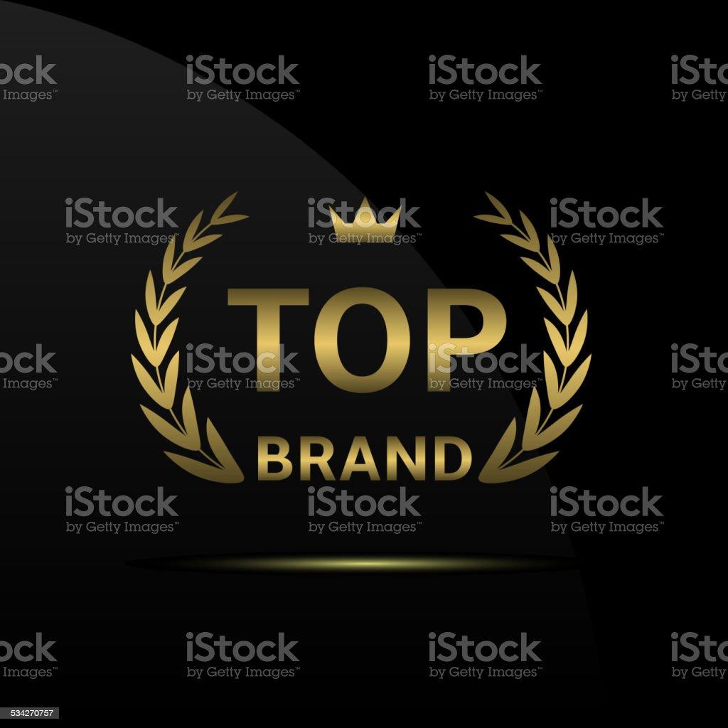 Top brand vector art illustration