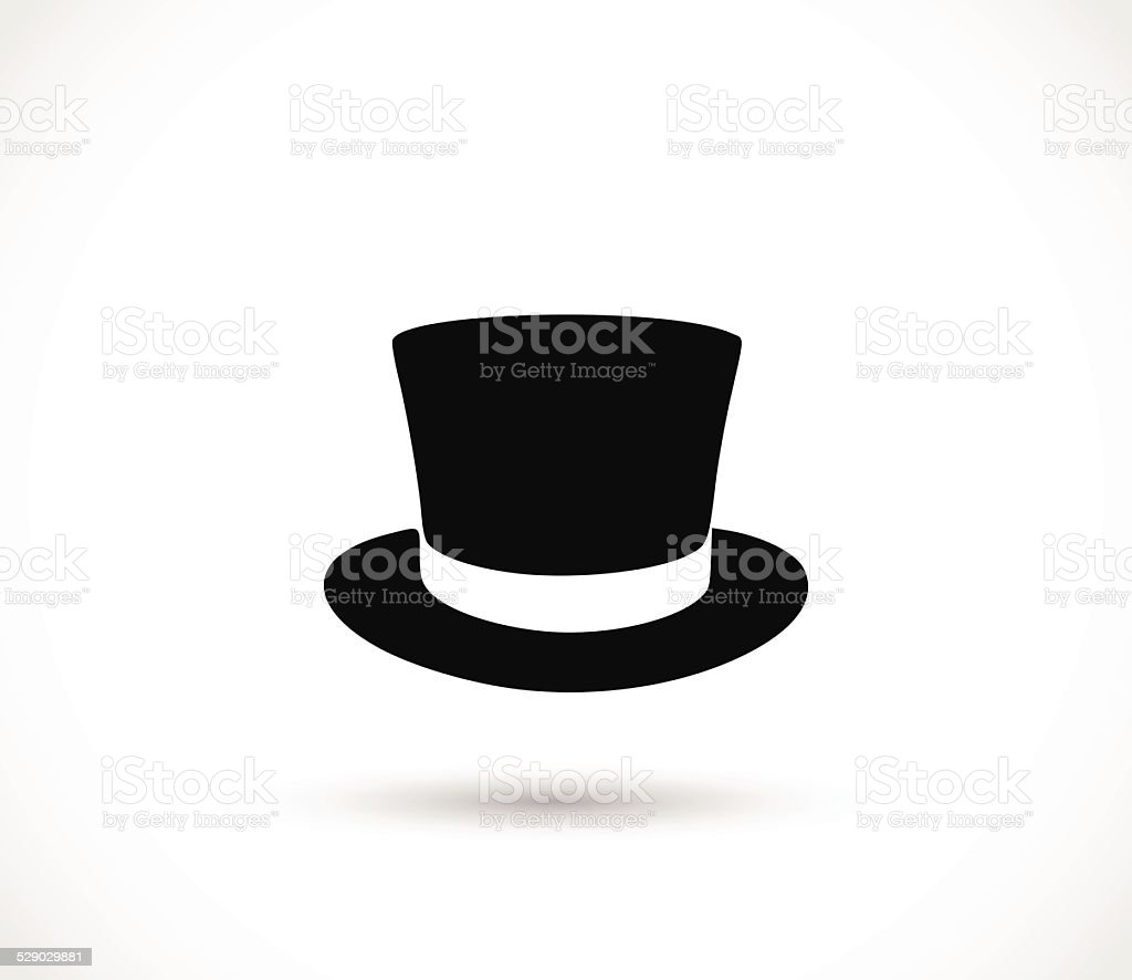 Top hat icon vector vector art illustration