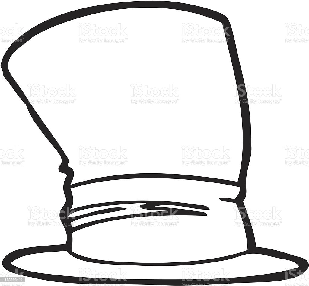Top Hat Line Art royalty-free stock vector art