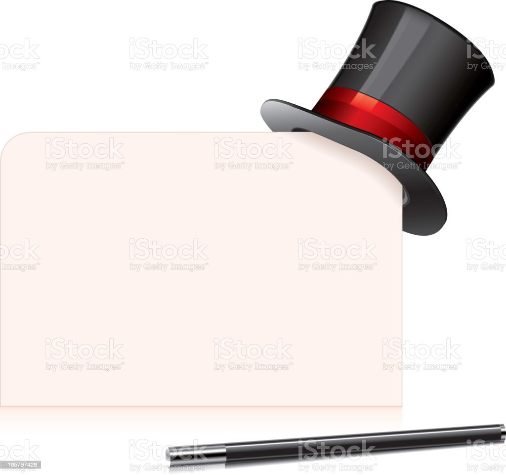 Top hat royalty-free stock vector art