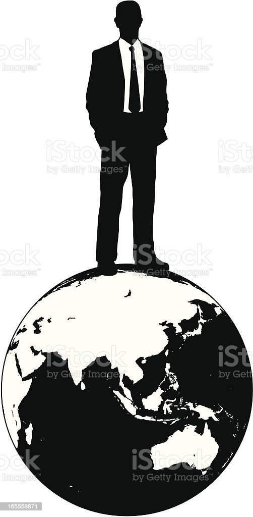 Top of the World - Asia and Australia royalty-free stock vector art