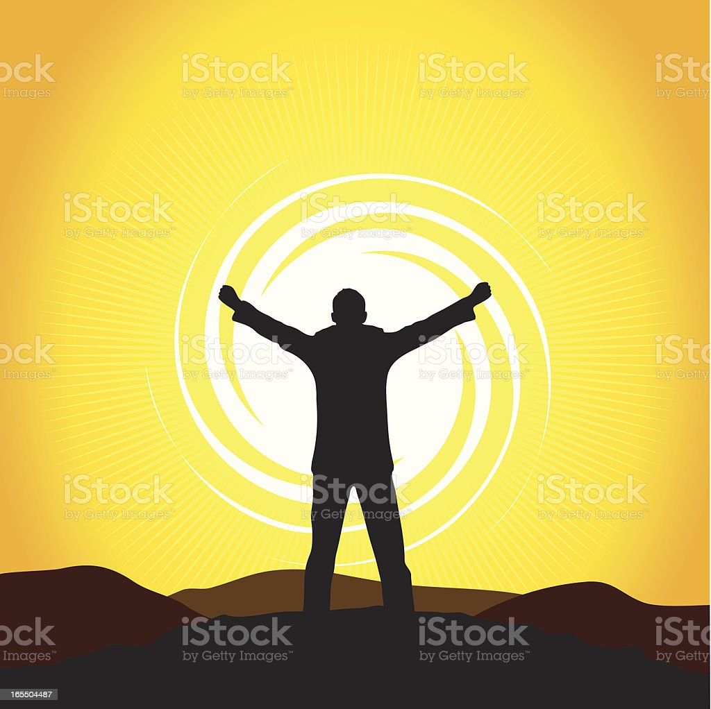 Top of the World royalty-free stock vector art