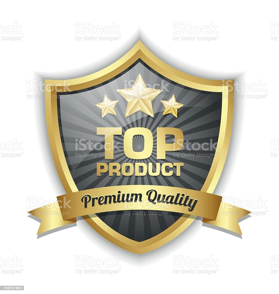 Top product shield vector art illustration