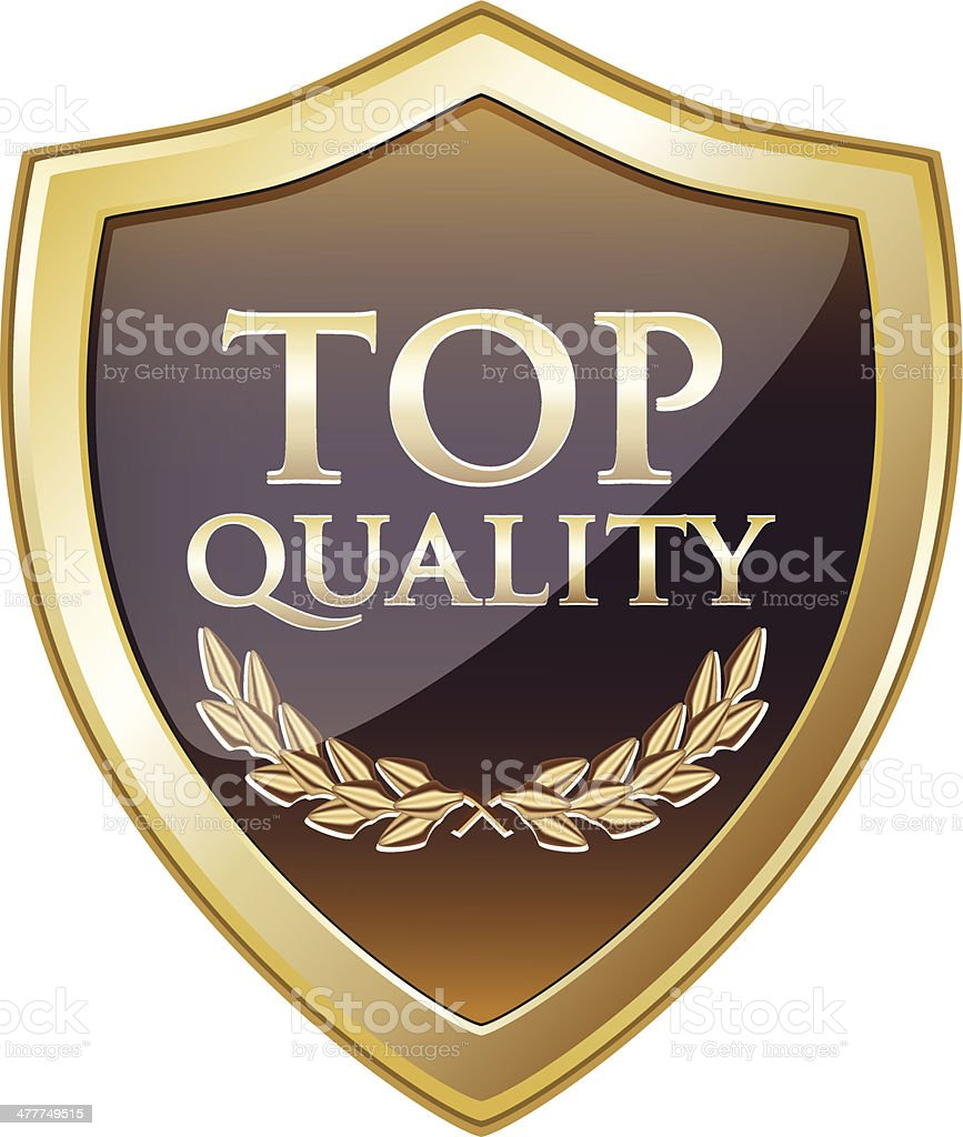 Top Quality Gold Shield royalty-free stock vector art