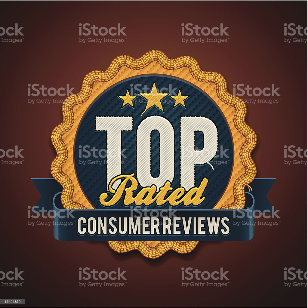 Top rated badge royalty-free stock vector art