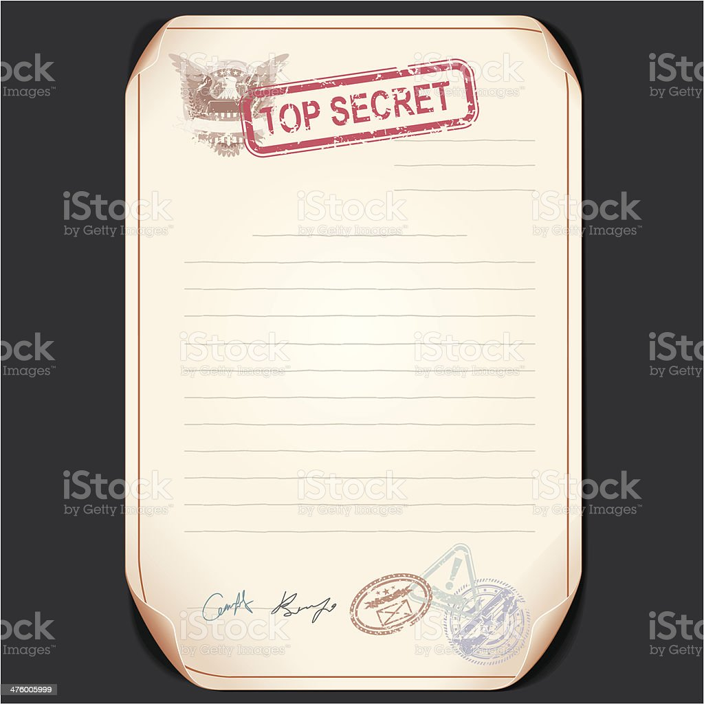 Top Secret Document vector art illustration