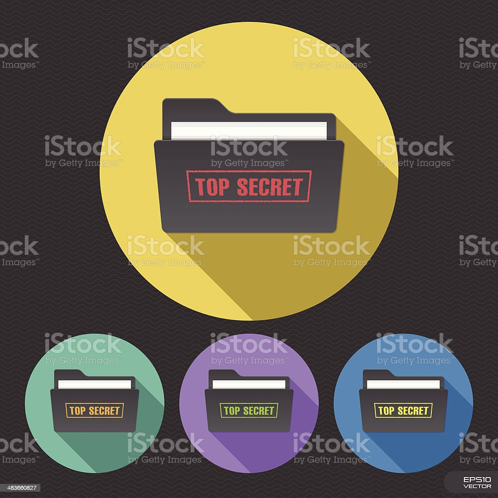 Top Secret Folder vector art illustration