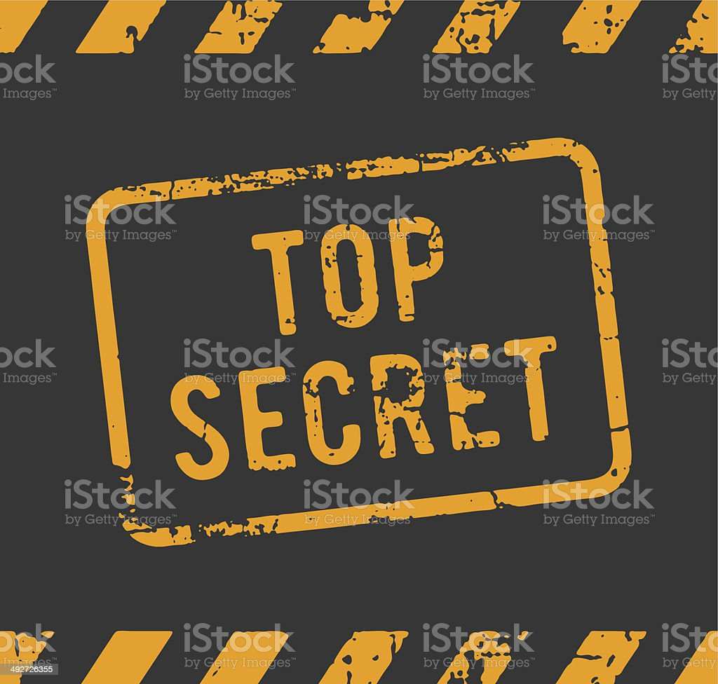 Top secret rubber stamp vector art illustration