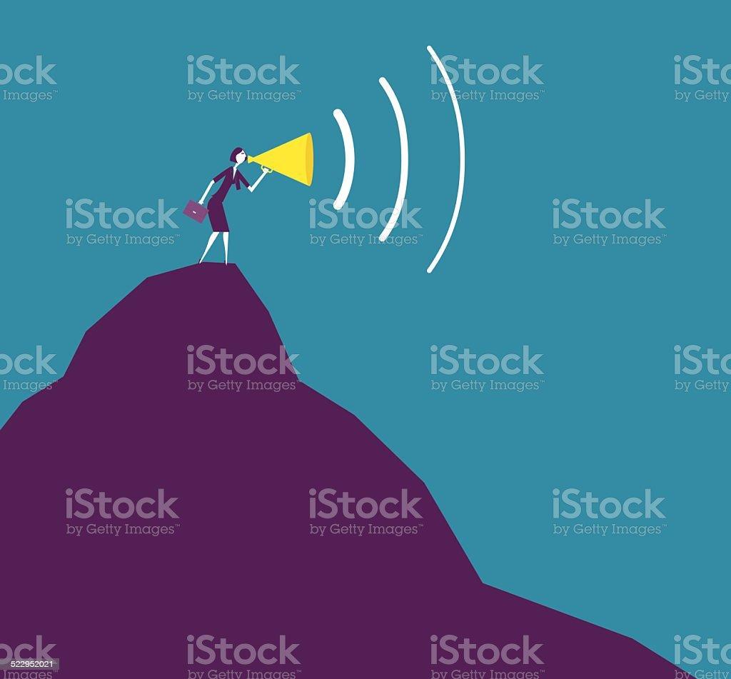 Top Speaker vector art illustration