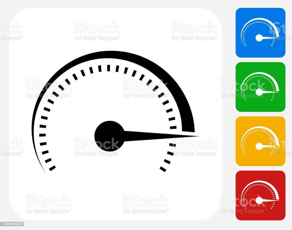 Top Speed Icon Flat Graphic Design vector art illustration