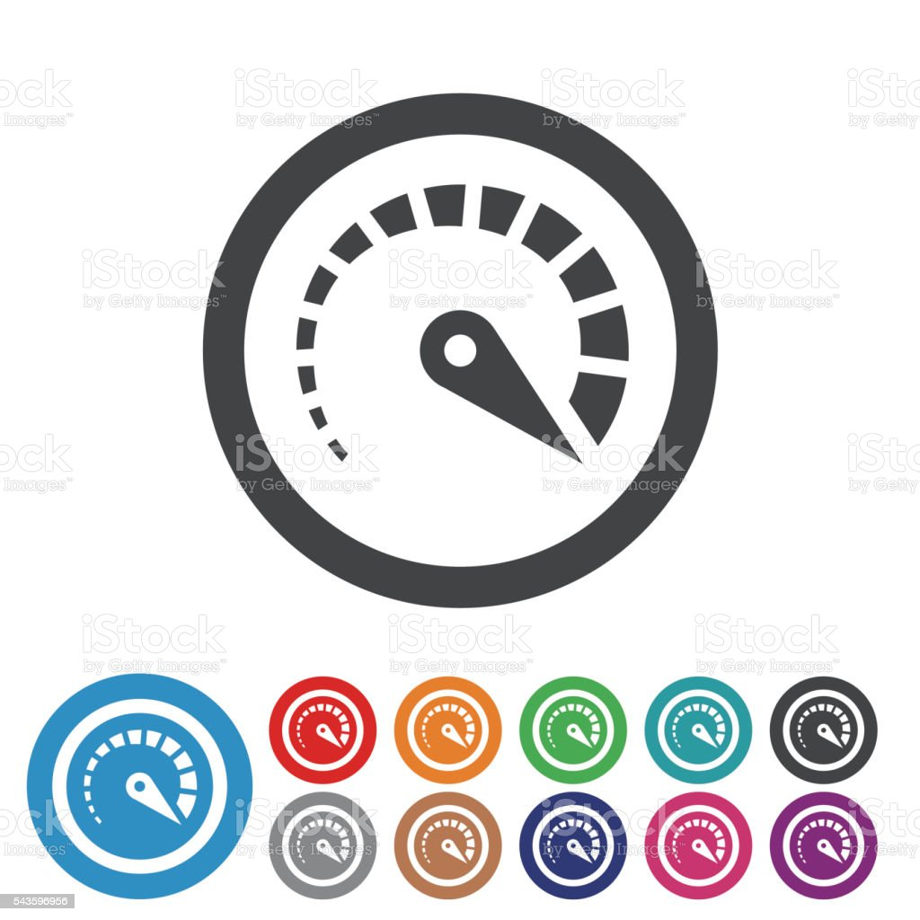 Top Speed Icons - Graphic Icon Series vector art illustration