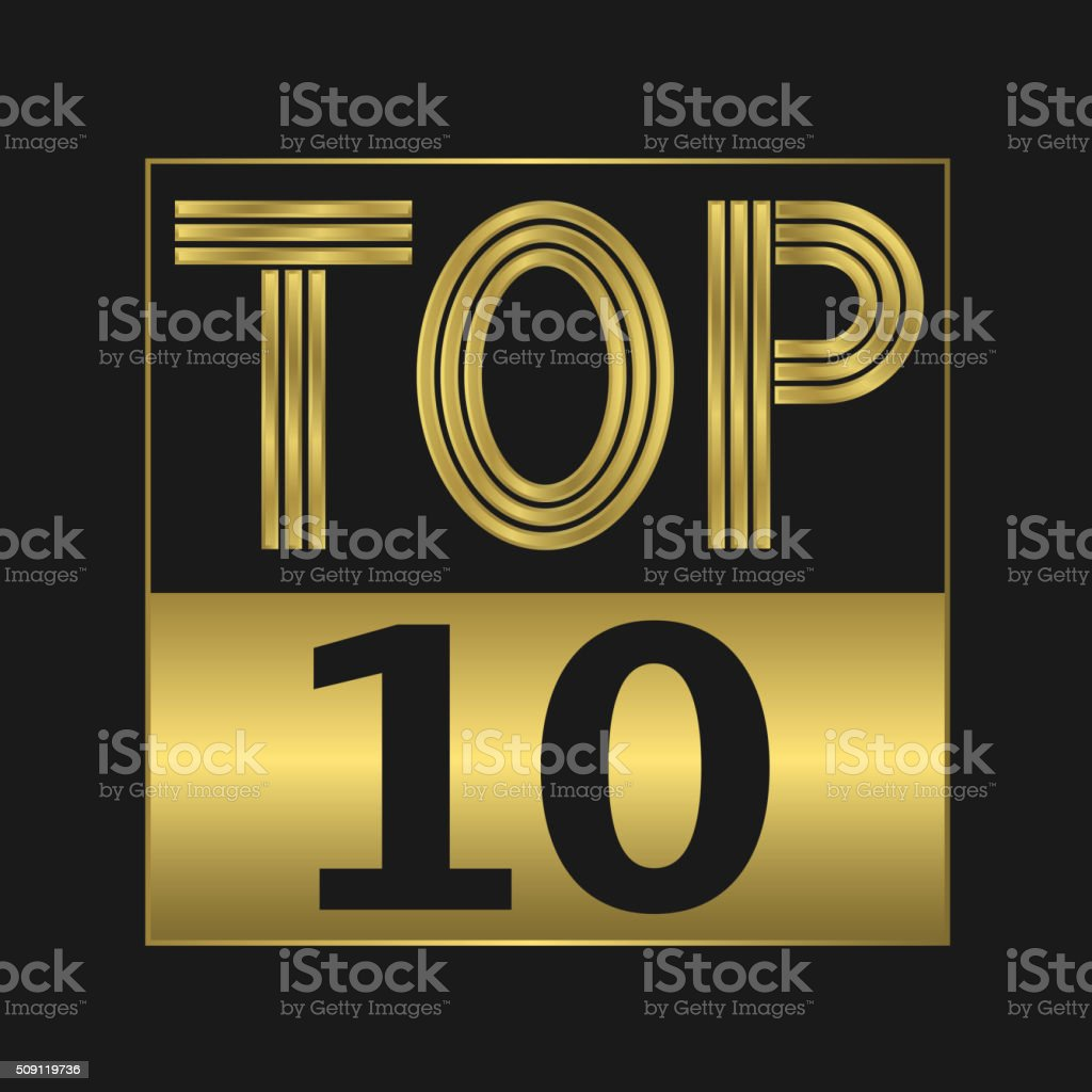 Top ten sign vector art illustration
