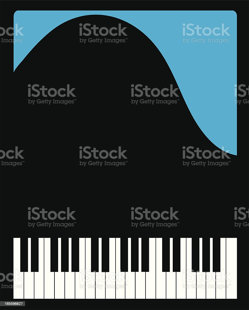 top view of a grand piano royalty-free stock vector art