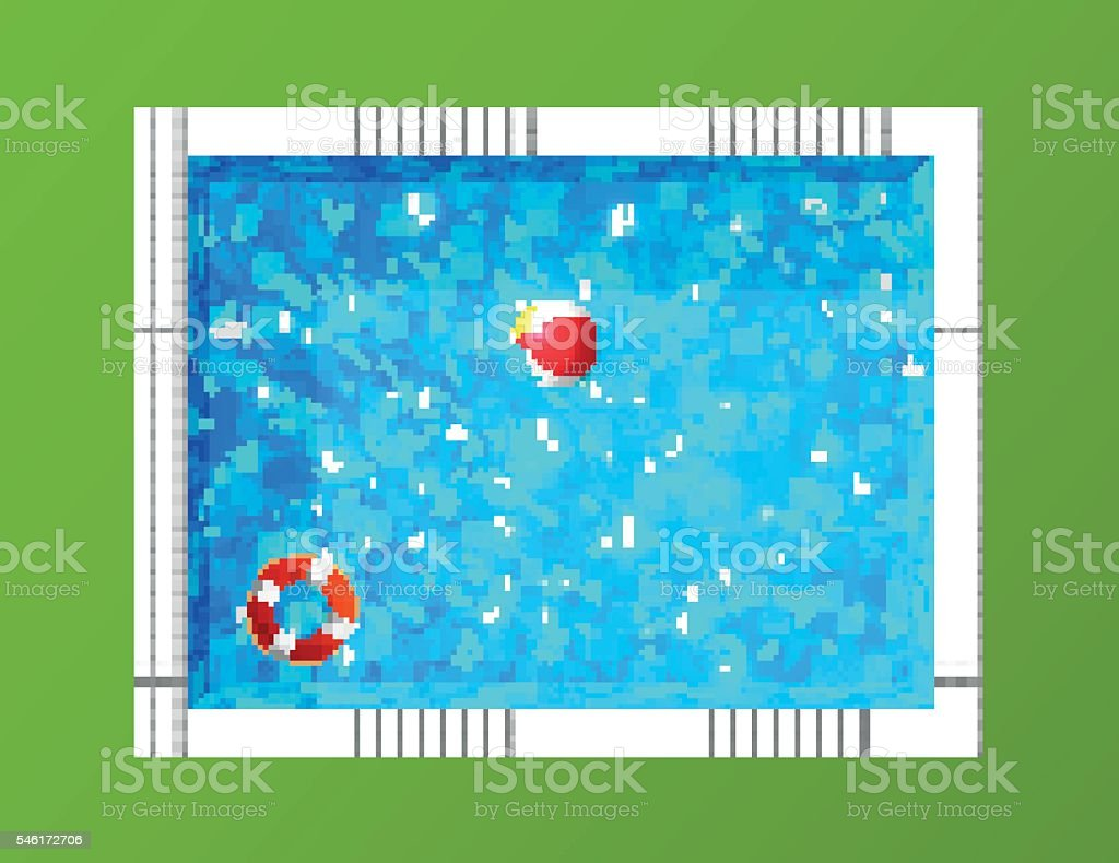 Top view of swimming pool, Realistic Vector Illustration vector art illustration