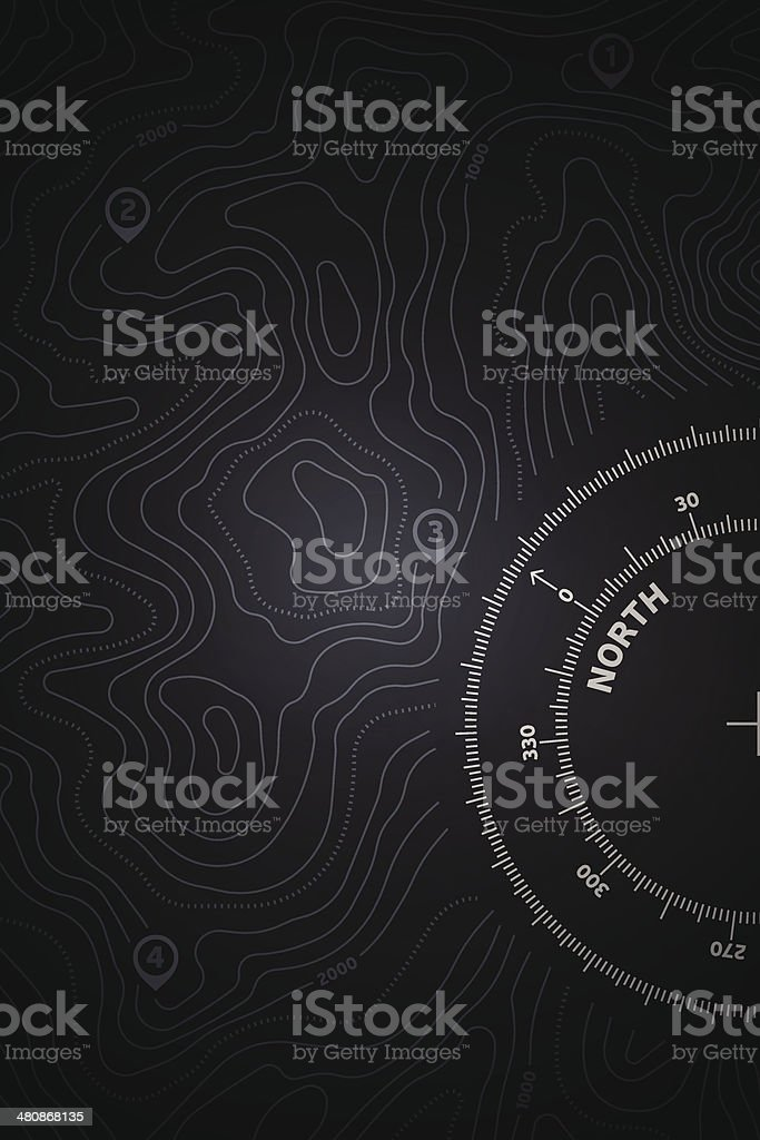 Topo Map Background vector art illustration