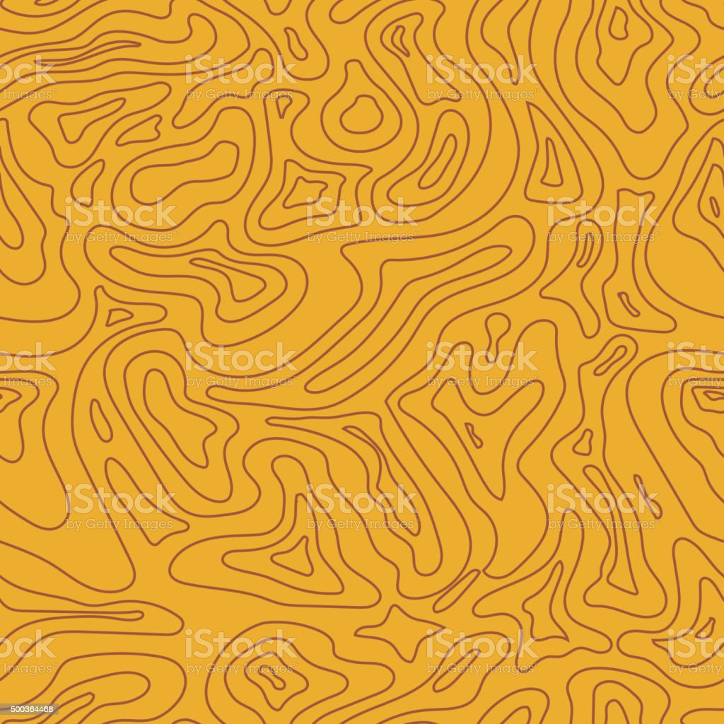 Topographic Map Seamless Pattern.  Vector Background vector art illustration
