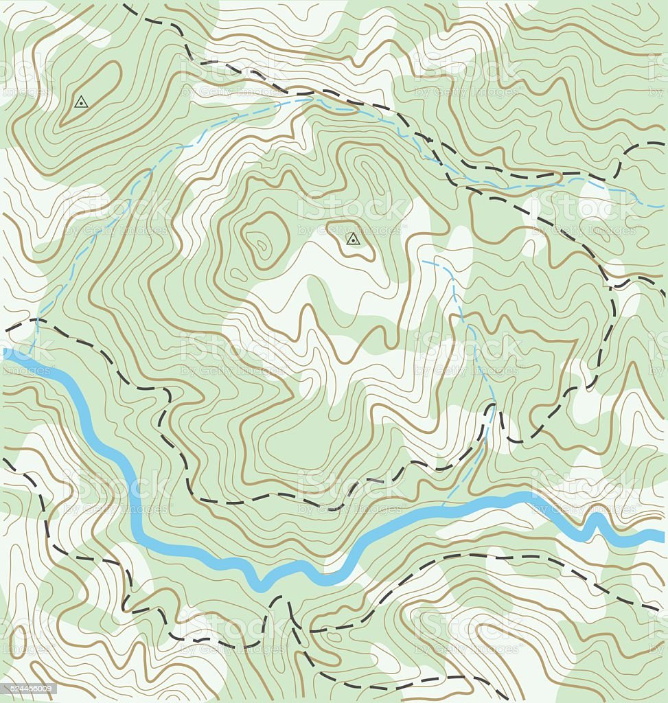 Topographic Map vector art illustration