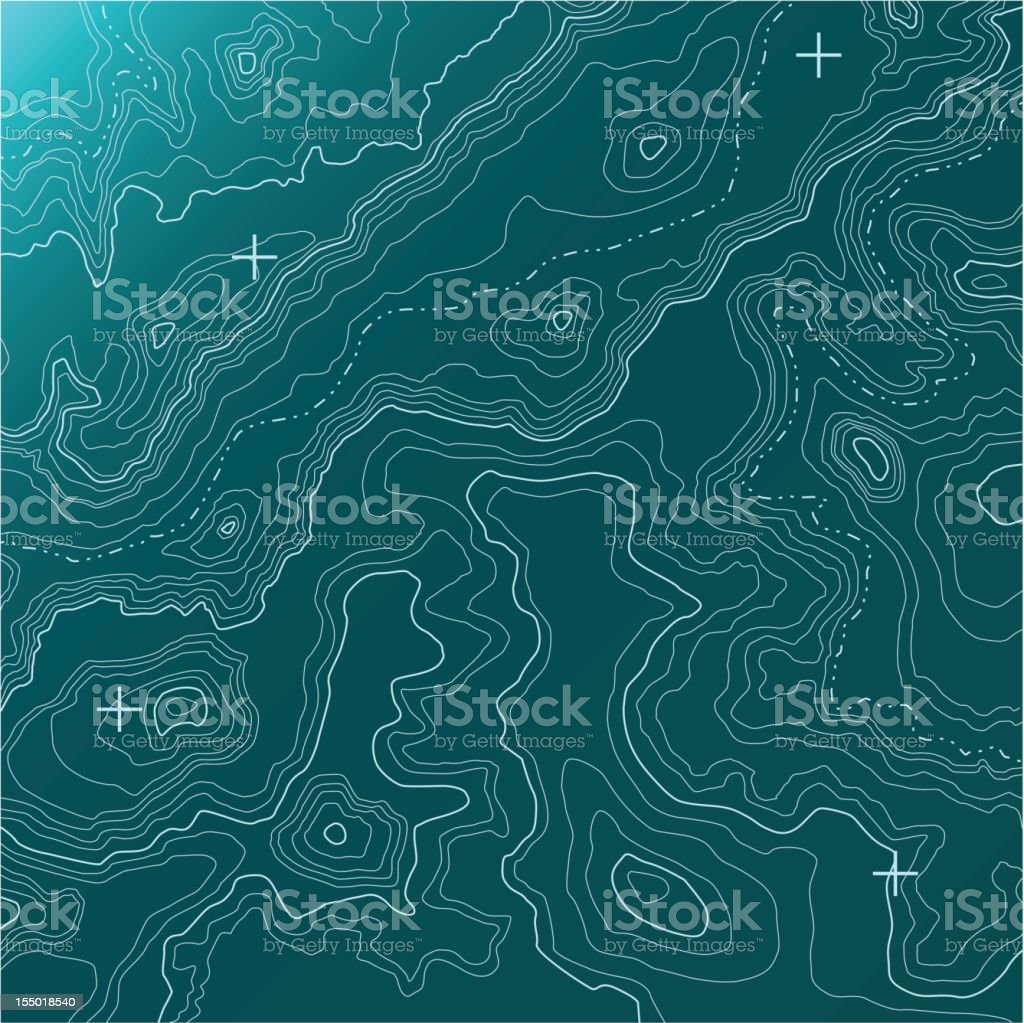 Topographic Map [vector] vector art illustration