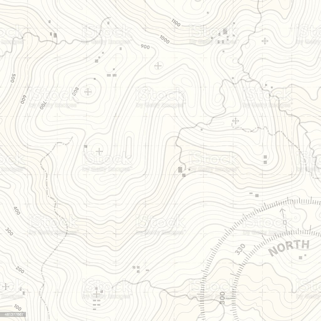 Topographic Terrain vector art illustration