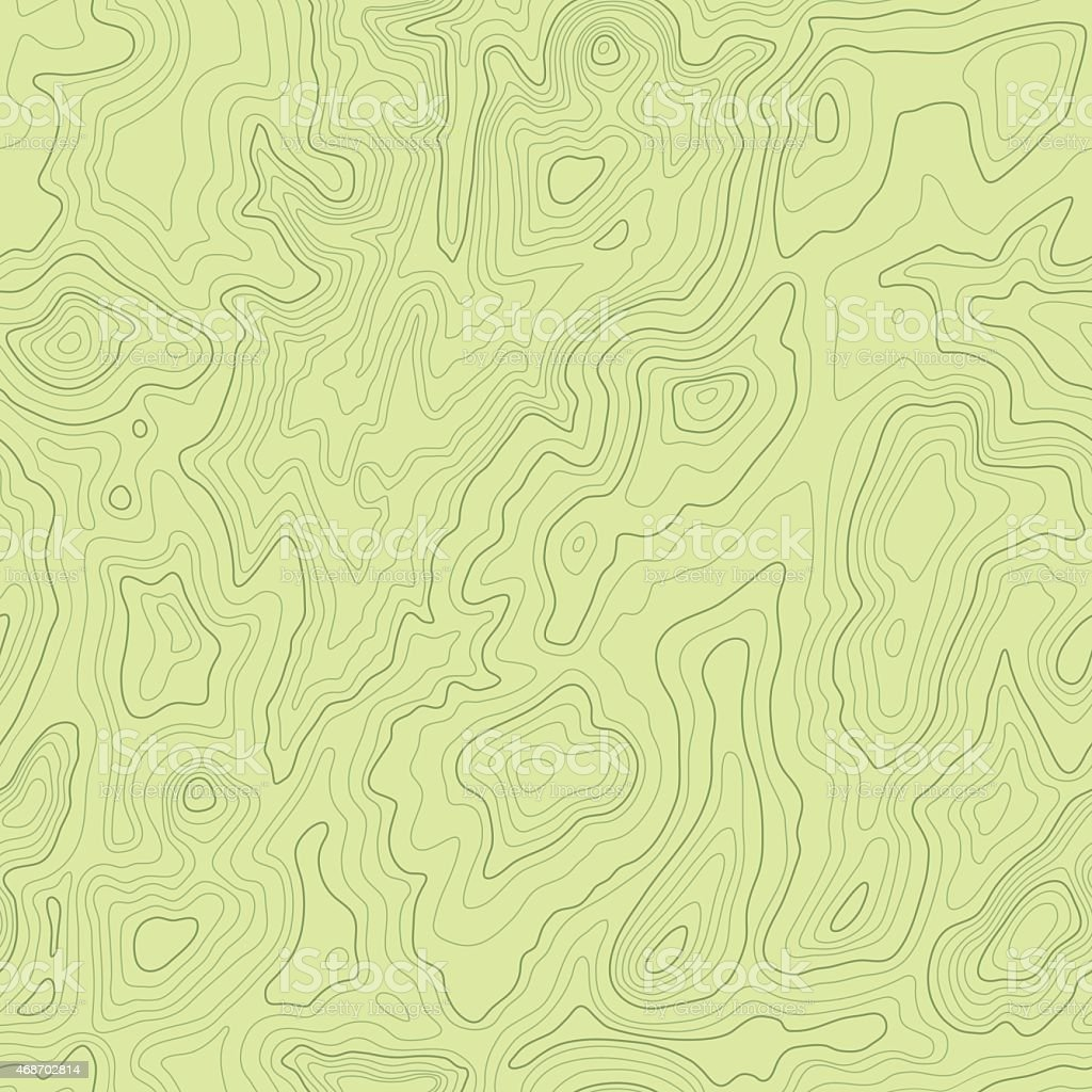 Topographical Map Seamless vector art illustration