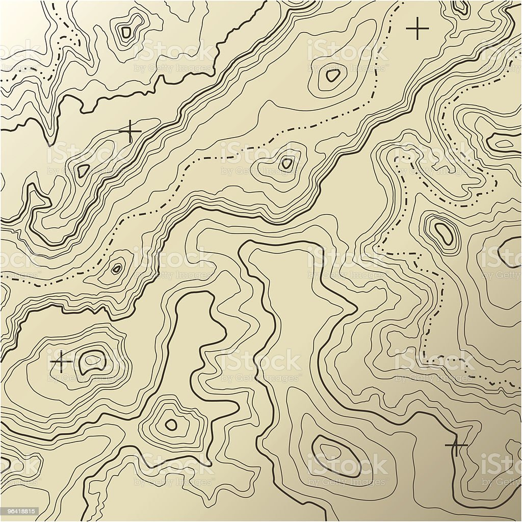 Topography [vector] vector art illustration