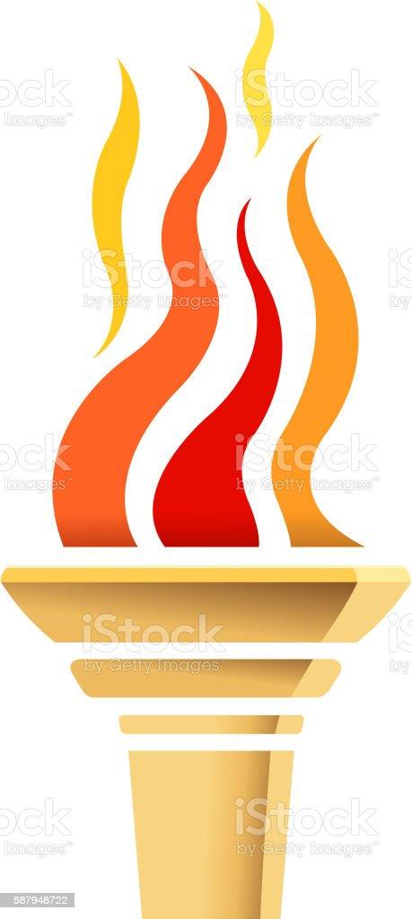 torch icon vector art illustration