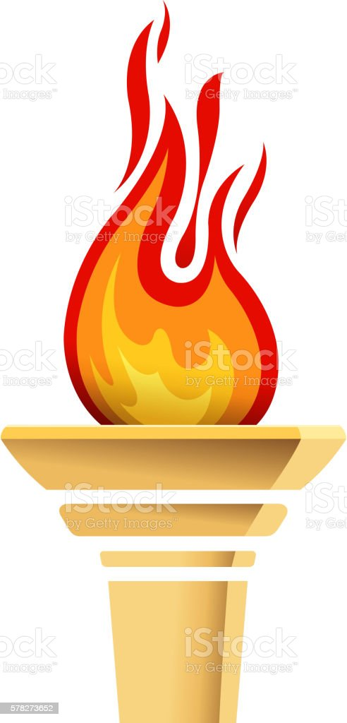 torch icons vector art illustration