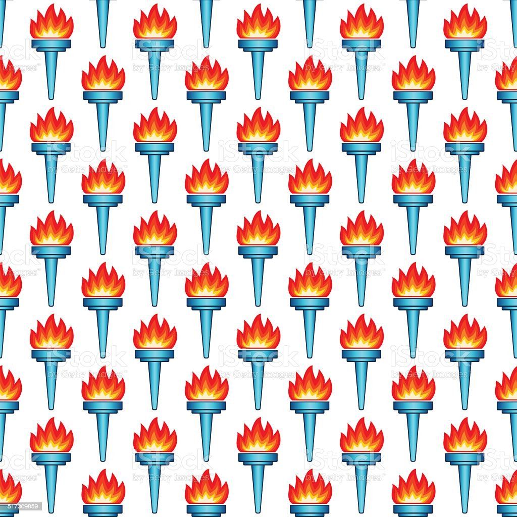 Torch pattern vector art illustration