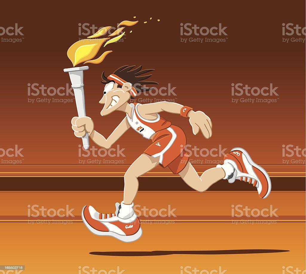 Torch Runner Summer royalty-free stock vector art