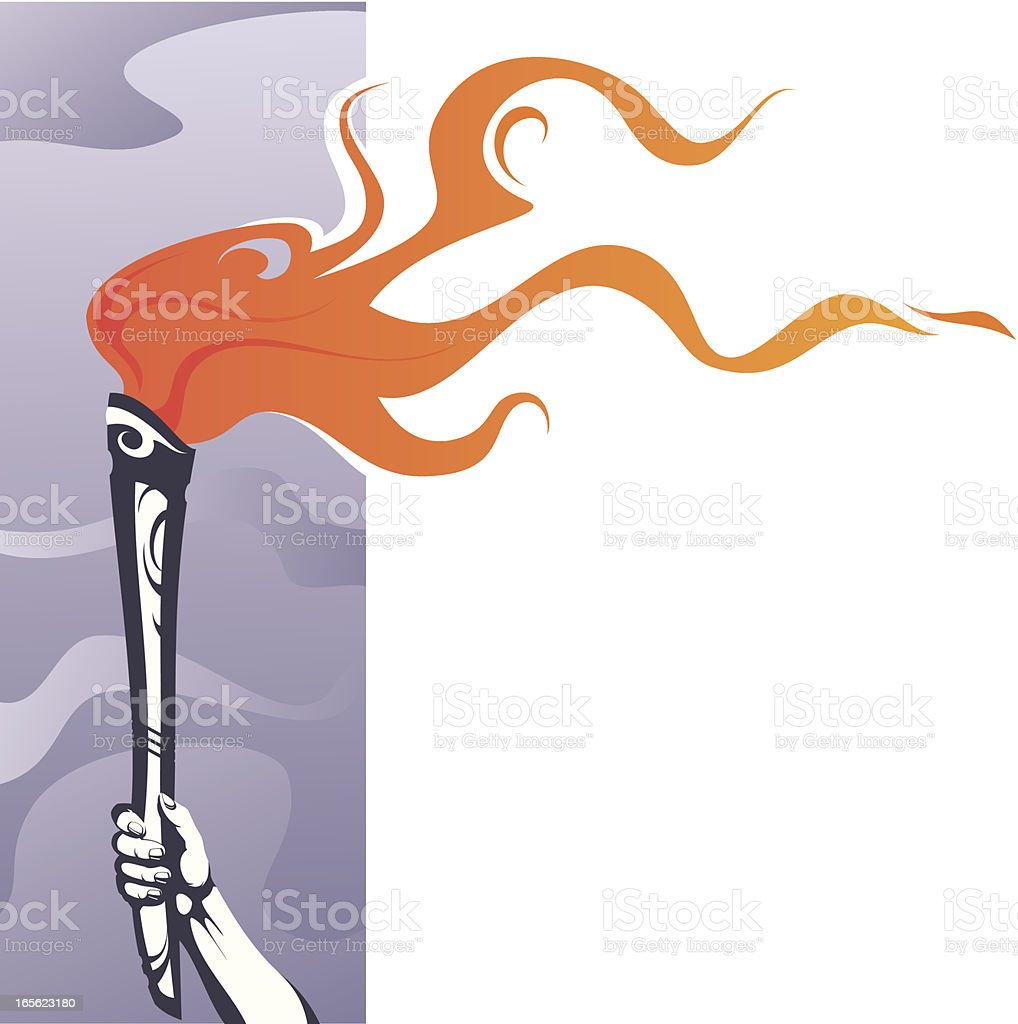Torch royalty-free stock vector art